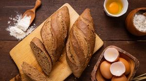Baking Bread Egg Flour Still Life 3072x2048 wallpaper