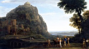 View Of Delphi With A Procession Claude Lorrain Ancient Greece Classic Art Painting 4000x3128 Wallpaper