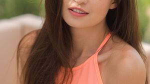 Brunette Long Hair Looking At Viewer Portrait Display Bare Shoulders Ukrainian 3334x5000 Wallpaper