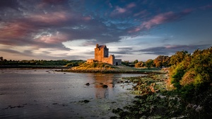 Castle Dunguaire Castle Ireland Island 3840x2160 wallpaper