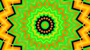 Abstract Artistic Colors Digital Art Kaleidoscope Pattern Shapes 1920x1080 Wallpaper