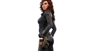 Black Widow Scarlett Johansson Iron Man 2 Render Marvel Comics The Avengers 2560x1600 Wallpaper