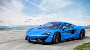 Blue Car Car Mclaren Mclaren 570s Sport Car Supercar Vehicle 3353x1870 Wallpaper