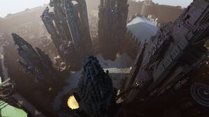 Minecraft Mojang Video Game Skyscraper City Building 4000x2250 Wallpaper