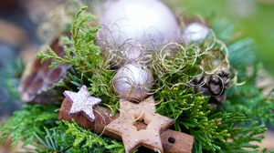 Bauble Christmas Ornaments Star 3712x2559 Wallpaper