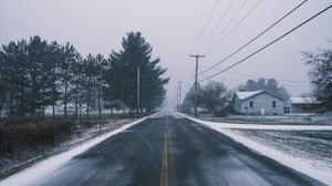 Road Snow Winter Wet Road 2048x1365 Wallpaper