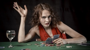 Card Game Casino Girl 6016x4016 Wallpaper