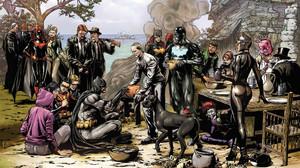 Thanksgiving Batman Catwoman Batwoman Red Hood Batgirl Penguin DC Comics Professor Pyg Tiger Shark D 3307x2559 Wallpaper