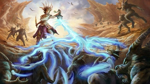 Battle Creature Diablo Iii Fantasy Magic Magician Monster Wizard Diablo Iii Wolf 3400x2102 Wallpaper