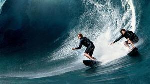 Surfing Edgar Ramirez Johnny Utah Luke Bracey Bodhi Point Break 3840x2160 Wallpaper