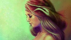 Artistic Girl Painting Portrait Woman 3658x2744 Wallpaper