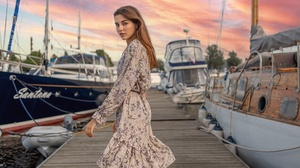 Dress Brunette 2560x1601 Wallpaper