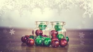 Beads Bottle Christmas Ornaments Snowflake 1920x1280 Wallpaper
