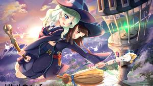 Little Witch Academia Diana Cavendish Kagari Akko Witch Broom 2047x1447 Wallpaper