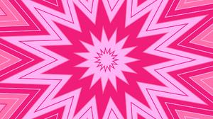 Abstract Artistic Digital Art Kaleidoscope Pattern Pink Shapes Star 1920x1080 Wallpaper