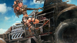 Crossout Video Game Girl Lipstick Post Apocalyptic Vehicle Woman 1920x1224 Wallpaper