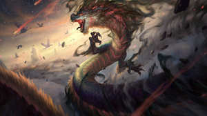 Dragon Creature Fantasy Art Artwork Smite Jormungandr Joshua Raphael 3840x2160 Wallpaper