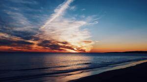 Horizon Nature Ocean Sky Sunset 6000x3376 Wallpaper