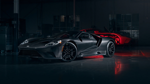 Ford Ford GT Car Supercars Muscle Cars Garage Low Light Carbon Fiber Hypercar 3840x2160 Wallpaper