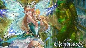 Goddess Primal Chaos Video Game Girls PC Gaming Fantasy Art Fantasy Girl Pointy Ears Wings Long Hair 1920x1185 Wallpaper