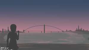 Girl Bridge 3000x1759 Wallpaper