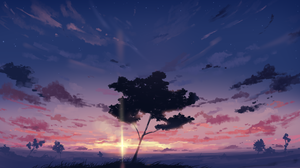 Landscape Trees Sunset Sky Clouds Arttssam 1920x1080 Wallpaper