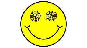 Smiley Yellow Minimalism Simple White Background 5000x5000 Wallpaper