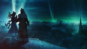 Aurora Borealis City Man Night Woman 3840x2160 Wallpaper