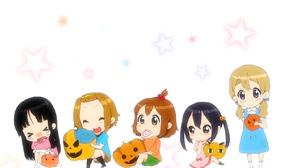 K ON Hirasawa Yui Kotobuki Tsumugi Tainaka Ritsu Akiyama Mio Nakano Azusa Halloween Costumes Pumpkin 1714x1063 Wallpaper