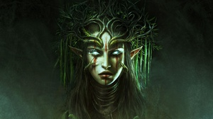 Blue Eyes Divinity Original Sin Ii Elf Face Girl Pointed Ears Woman 1920x1080 Wallpaper