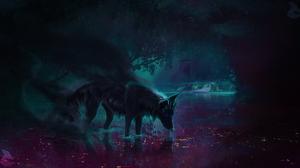 Fantasy Wolf 1983x1080 Wallpaper