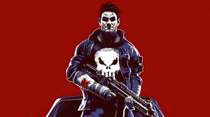 Punisher The Punisher Dodge Gun 4K Artwork Digital Art 5120x2880 Wallpaper