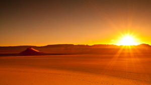 Africa Algeria Desert Hoggar Mountains Landscape Sahara Sand Sunset Tassili N 039 Ajjer Orange Color 5616x3744 Wallpaper