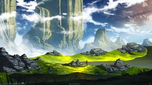 Michal Kva Digital Art Illustration Artwork ArtStation Fantasy Art Concept Art Mountains Landscape N 1536x864 Wallpaper