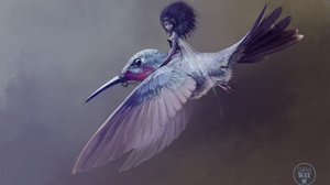 Fairy Flying Hummingbird 1920x1200 Wallpaper