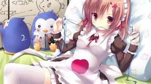Boku Wa Tomodachi Ga Sukunai Apron Maid Dress Pillow Brown Hair Brown Eyes Yukimura Kusunoki Mawaru  1500x1061 Wallpaper