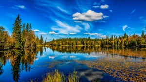 Cloud Fall Forest Lake Nature Reflection Sky 2048x1365 Wallpaper