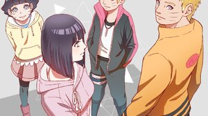 Blonde Blue Eyes Boruto Anime Boruto Uzumaki Boruto Naruto Next Generations Himawari Uzumaki Hinata  1920x1694 Wallpaper
