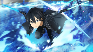 Boy Kirito Sword Art Online 2560x1440 Wallpaper