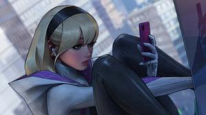 Blonde Girl Gwen Stacy Marvel Comics Spider Gwen 3840x2160 Wallpaper