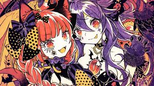 Anime Anime Girls Touhou Halloween Reiuji Utsuho Kaenbyou Rin 1651x1002 Wallpaper