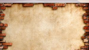 Wall Bricks Mountain Top Clouds 1920x2019 Wallpaper