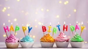 Birthday Candle Cupcake Happy Birthday 5760x3840 Wallpaper