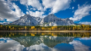 Nature Lake Mountain Cloud 2048x1365 wallpaper
