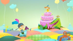 Balloon Birthday Boy Cake Child Gift Girl Princess 1920x1200 Wallpaper