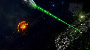 Battle Borg Star Trek Destruction Federation Sci Fi Star Trek 1590x1193 Wallpaper