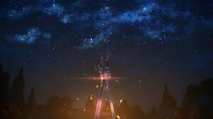 Night Sky Dark Sword Art Online Anime Sword 3840x2160 Wallpaper