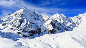 Mountain Nature Sky Snow Winter 5616x3159 Wallpaper