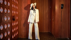 Actress American Black Hair Hat Singer Suit Vanessa Hudgens 2048x1152 Wallpaper