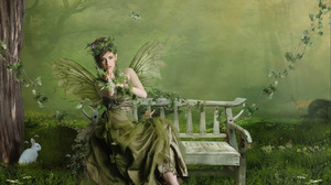 Green Fairy 1680x1050 Wallpaper